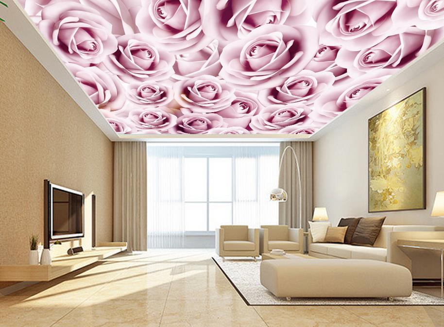 натяжные потолки с розами фото одной самых